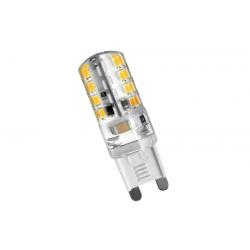 Λάμπα σιλικόνης g9 με 72 led smd 3014 230v ac/dc δέσμης  360° 220 lumen θερμό λευκό 3000Κ