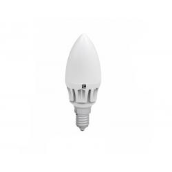 Λάμπα led κεράκι Ε14 μάτ 6watt 230v ντιμαριζόμενη 480 lumen ψυχρό λευκό 6400Κ