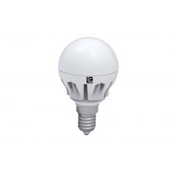 Λάμπα led σφαιρική Ø 45mm Ε14 μάτ 6watt ντιμαριζόμενη 490 lumen ψυχρό λευκό 6400Κ