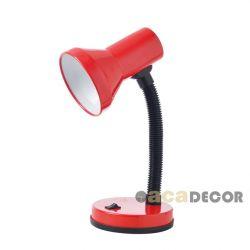Φωτιστικό γραφείου-σχεδιαστηρίου μεταλλικό κόκκινο με βάση για λάμπες με ντουί Ε27