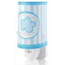Παιδικό φωτιστικό νυκτός πρίζας Sweet Light γαλάζιο σύννεφο με led 0.5 watt & διακόπτη on/off