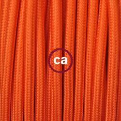 Υφασμάτινο καλώδιο orange (πορτοκαλί) 2χ0,75 στρογγυλό