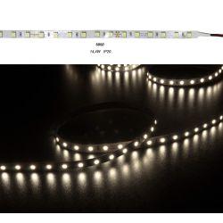 led ταινία super bright 14.4w/m  24vdc 60led5630/m μή στεγανη ip20 εύκαμπτη αυτοκόλλητη 1100lumen/m