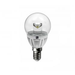 Λάμπα led σφαιρική Ø 45mm Ε14 αλουμινίου διάφανη 5watt 230v 400lumen θερμό λευκό 3000Κ