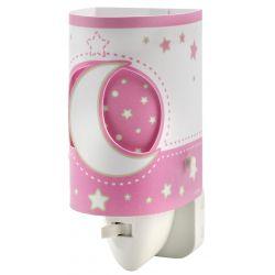 Φωτάκι νυχτός πρίζας pink girl  1 led 0,5 watt με διακόπτη & κάλυμα προστασίας 12Χ6cm