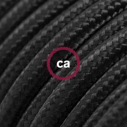 Υφασμάτινο καλώδιο black μαύρο 2Χ0.75 στρογγυλό