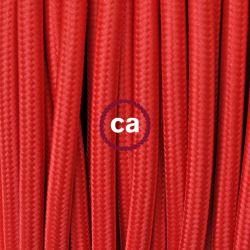 Υφασμάτινο καλώδιο red (κόκκινο) 2χ0,75 στρογγυλό