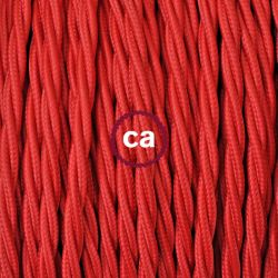 Υφασμάτινο καλώδιο κόκκινο 2 Χ 0,75 στριφτό