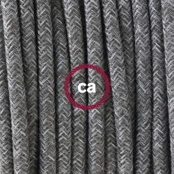Υφασμάτινο καλώδιο mohair grey (φυσικό γκρί-μοχέρ) 2Χ0.75 στρογγυλό