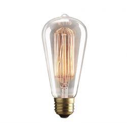 Λάμπα διακοσμητική τύπου edison 40watt E27 230V αβοκάντο st64-p θερμό λευκό 2100Κ 125lumen