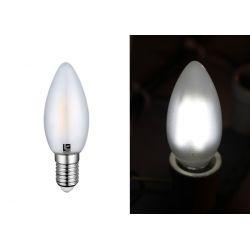 Διακοσμητική λάμπα led cog κεράκι Ε14 4watt 230v c35 με μάτ γυαλί & epistar led δέσμης 360° ψυχρό Φως 5800k 430lumen