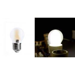 Διακοσμητική λάμπα led cog σφαιρική μάτ Ε27 4watt 230v με epistar led δέσμης 360° ψυχρό Φως 5800k 360lumen