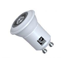 Λάμπα led ισχύος gu10 Ø 35mm με 1led smd2525 3watt 230v δέσμης 30° 230lumen ψυχρό λευκό 6200Κ