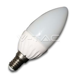 Λάμπα led κεράκι Ε14 4watt  220v 350 lumen θερμό λευκό 3000Κ