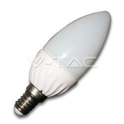 Λάμπα led κεράκι Ε14 4watt 220v 350 lumen ψυχρό λευκό(φυσικό λευκό) 4500Κ