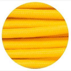 Υφασμάτινο καλώδιο yellow (κίτρινο) 2χ0,75 στρογγυλό