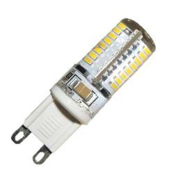 Λάμπα led g9 σιλικόνης 3watt 230v ac δέσμης 360° θερμό λευκό φώς 3000κ 240lumen