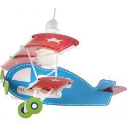 Παιδικό φωτιστικό οροφής babyplane σε σχήμα αεροπλάνου & κίτ ανάρτησης σε γαλάζιο χρώμα
