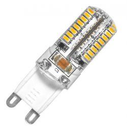 Λάμπα led luxram g9 silicon 3watt 230v με smd3014 ψυχρό λευκό 6400Κ 230lumen 25000 ώρες